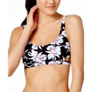 Bar III Vintage Floral Cut Out Bikini Top